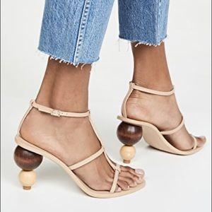 Cult Gaia Eden Sandals, Wood Ball Heels